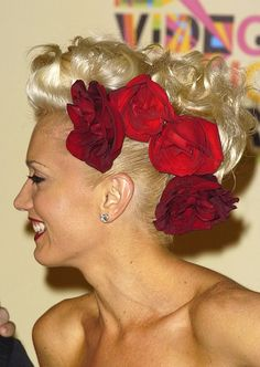 I always loved this up-do originally rocked by Gwen Stefani. I would totally wear something like this on the big day!