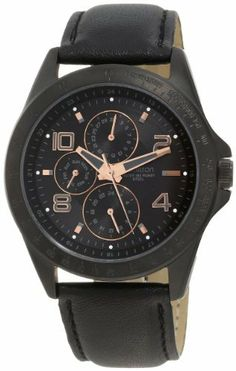 Armitron Men's 20/4727BKTRTI Black Ion-Plated Rosegold-Tone Dial Watch Armitron. $56.24. Rosegold-tone framed subdials with day, date and 24 hour time functions. Water-resistant to 50 M (165 feet). Japanese quartz movement and scratch resistant mineral crystal. Smooth, black genuine leather strap with matching stitching and black ion-plated stainless-steel buckle. Black dial with rosegold-tone framed grey arabic 2, 4, 8 & 12 with rosegold-tone markers at other hours. Save 25%!