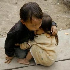 Brother and sister who survived the Nepal earthquake, 2015.