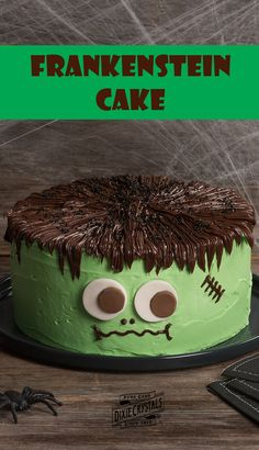 Your Halloween guests won't be scared, but they might be green with envy over this fun Frankenstein cake! Underneath his green butter cream exterior, you'll find four layers of Chef Eddy's screamingly good classic vanilla cake. This sweet treat is perfect for a fall festival or Halloween party dessert.