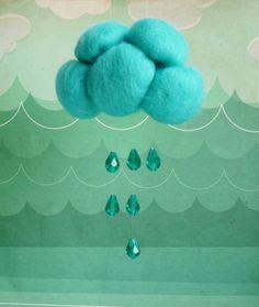 Aqua raining on Earth: by atelierpompadour on Etsy