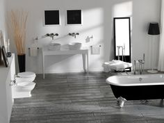 Consolle lavabo doppio con cassetti Collezione Impero by Olympia Ceramica | design Gianluca Paludi