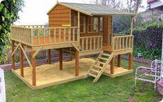 Super fun playhouse with a sandbox already there