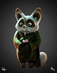 Digital painting of Master Shifu from Kung Fu Panda 3 - Chinese trailer 2015