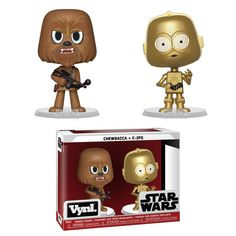 Figuras Vynl Star Wars Chewbacca and Chewbacca, Vinyl Figures, Action Figures, Pop Figures, Star Wars Collection, Star Wars Darth, Display Boxes, Funko Pop Vinyl, New Toys