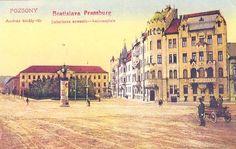 András király tér - Andreasplatze -Šafárikovo námestie Bratislava, Street View, Times, History, Historia