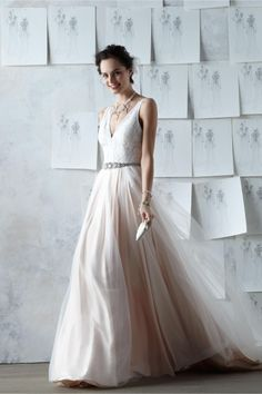 product | Tamsin Gown from BHLDN | blush pink wedding dress