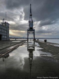 Αντανακλάσεις στο λιμάνι Θεσσαλονίκης μετά από βροχή... Thessaloniki... Macedonia Greece, Greece Thessaloniki, Winter Day, Nymph, Photos, Pictures, Country, Deli, City