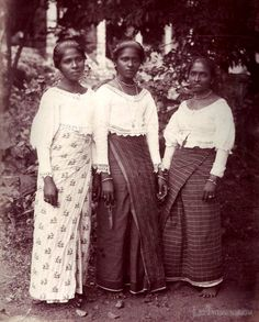 Early image of Native Sinhalese girls