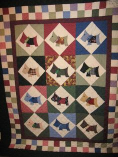 scotty dog quilt patterns free | Hand