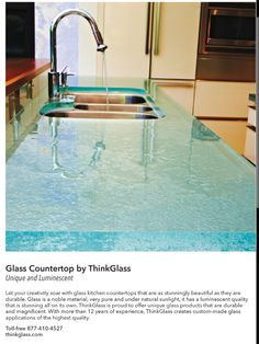 Glass is great to use in the kitchen or bath. This material will not hold mildew or germs and is easy to clean.
