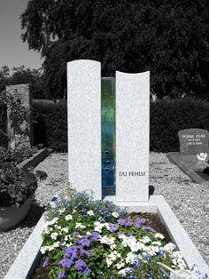 Glasstele für Grabstein