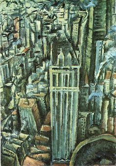 MAX WEBER New York, the Liberty Tower from the Singer Building (1912)