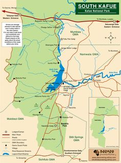 Kafue National park south Map • mappery