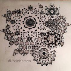 love the graphic honeycomb design