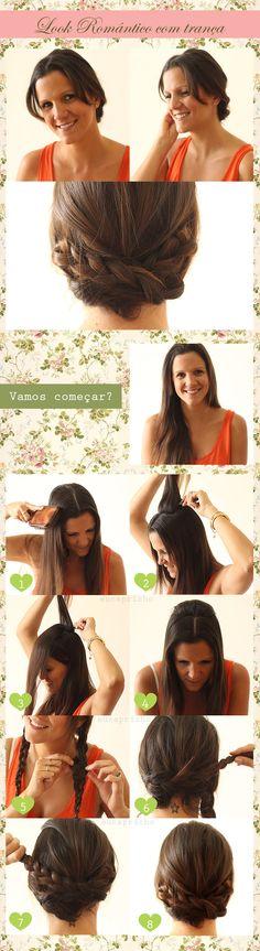 tutorial penteado Look Romântico