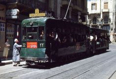 tramway in the 60s beirut