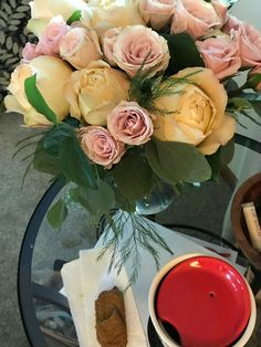 Photos of my studio and lots of beautiful flowers.