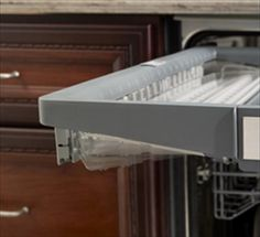 Flexible Rack of the Sapphire Dishwasher from Thermador. Stainless Steel Panels, Open Concept, Home Kitchens, Kitchen Design, Appliances, Dishwashers, Sapphire, Furniture, Amazing