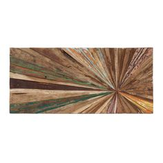 This unique piece of wall art is a stunning addition to any room. Each piece is made from reclaimed wood, which ensures that no two are the same.