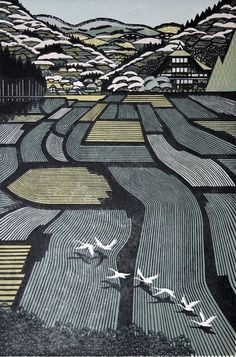 Landscapes illustration by Ray Morimura