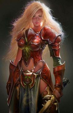 Fantasy-female warrior-art