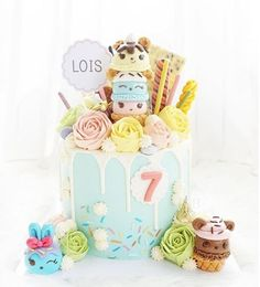 We love this Num Noms inspired Which Num Noms would you want on your cake? Cool Birthday Cakes, 6th Birthday Parties, Num Nom Cake, Fondant, Nom Noms Toys, Mom Cake, Character Cakes, Celebration Cakes, Jouer