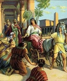 Joseph made ruler in Egypt, early Bible illustration. While one of the original 12 sons of Jacob (the son of Jacob and first child of Rachel) Joseph was not personally included in the 12 Tribes of Israel. Sons Of Jacob, The Bible Movie, Bible Pictures, Religious Pictures, Religious Art, Art Pictures, 12 Tribes Of Israel, Bible Illustrations, Biblical Art
