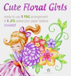 Fairy Clipart, Leaf Clipart, Watercolor Paper Texture, Clipart Design, Collage Sheet, Flower Girls, Design Elements, Card Making, Clip Art