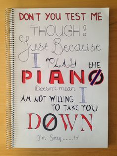 Not Today - Twenty One Pilots - Don't you test me though, just because I play the piano, doesn't mean I am not willing to take you down! I'm sorry..