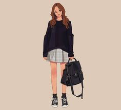 Character design illustration drawing clothes, illustration girl, anime s. Character Design Sketches, Character Design Girl, Character Design Inspiration, Character Art, Arte Fashion, Girl Fashion, Fashion Design, Tmblr Girl, Drawing Clothes