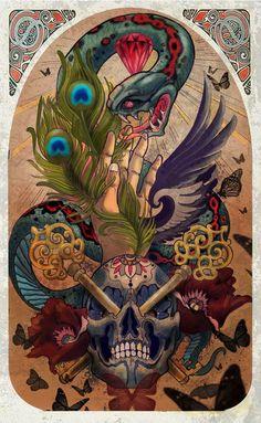 Painting by Tattoo Artist Luis Orellana Jugendstil tattoosberlin.com