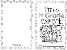 I'm a First Grade Expert book for back to school time!