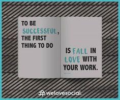 Sucesso, paixão, trabalho. A combinação perfeita. Boa sexta-feira! ♡ #Success #WeLoveSocial