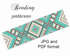 Peyote Pattern - Beading Tutorial - Bracelet Pattern - Loom Bracelet - Loom Pattern - Instantly Download - Digital format PDF, JPG