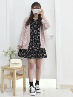 마리쉬♥패션 트렌드북! Kpop Outfits, Korean Outfits, Dress Outfits, Fall Outfits, Cute Outfits, Fashion Outfits, Womens Fashion, Dresses, Ulzzang Fashion