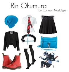 Rin Okumura - Blue Exorcist by kyoung-i on Polyvore featuring polyvore fashion style Alexander McQueen Milly Topshop Dr. Martens Rebecca Minkoff Palm Beach Jewelry Coal Napoli clothing