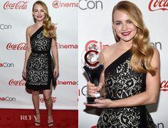 Britt Robertson In J. Mendel – The CinemaCon Big Screen Achievement Awards