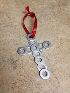 cross made of washers - Google Search