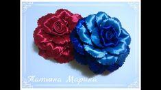 МК Необычная объемная роза из атласной ленты 12.5 см/volumetric rose/ros...