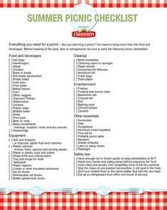 Barbecue Checklist | home contact site map privacy policy