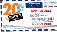 Bed bath and past coupon is something you must not miss.