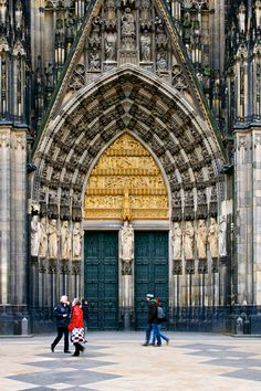 """""""Cologne Cathedral (German: Kölner Dom, officially Hohe Domkirche St. Petrus, English: High Cathedral of St. Peter) is a Roman Catholic church in Cologne, Germany. It is the seat of the Archbishop of Cologne and the administration of the Archdiocese of Cologne. It is a renowned monument of German Catholicism and Gothic architecture and is a World Heritage Site. It is Germany's most visited landmark, attracting an average of 20,000 people a day."""