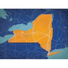 New York State Mapt | City Prints Map Art