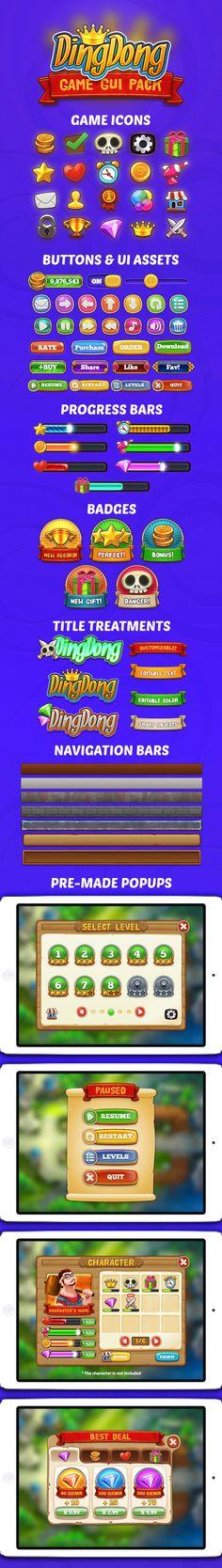 DingDong: Game GUI Pack by weirdsgn.deviantart.com on @deviantART