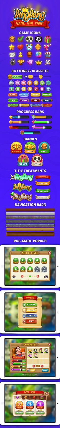 DingDong: Game GUI Pack by weirdsgn.deviantart.com on @deviantART