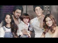 Actor Shahrukh Khan Family with Wife, Daughter Suhana, Sons Aryan  AbRam...