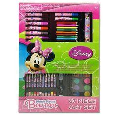 Disney Minnie Mouse Bowtique 67 piece Art Set by disney. $12.50