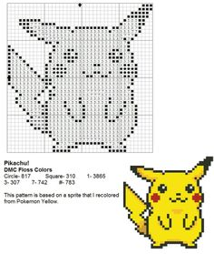 Pikachu cross stitch pattern. Free ($0).