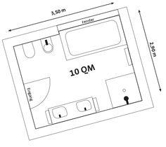 Design#5002264: Bad grundrisse | bau | pinterest. Badezimmer 10 Qm